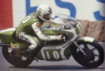 Mick Grant on the KR250 at the 1978 Belgian GP (Kawasaki Racers)