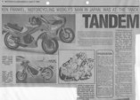 Motorcycling Weekly Apr 1984 : Page 1